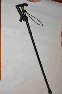 מקל הליכה מתקפל וטלסקופי עם ידית עזר